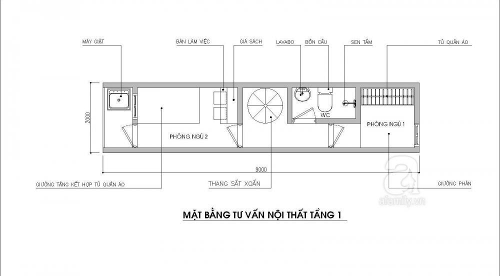 Tư vấn thiết kế nhà ống siêu nhỏ cho gia đình 5 người
