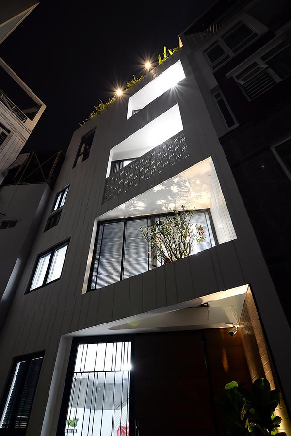 Mẫu nhà phố 6 cạnh, thiết kế khéo léo của kiến trúc sư