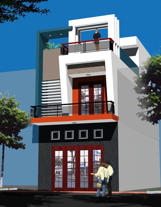 Nhà phố 2 tầng đẹp hiện đại