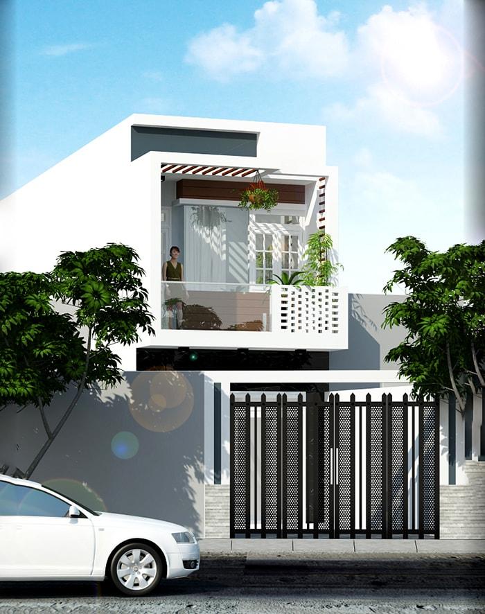 nhà hai tầng hiện đại