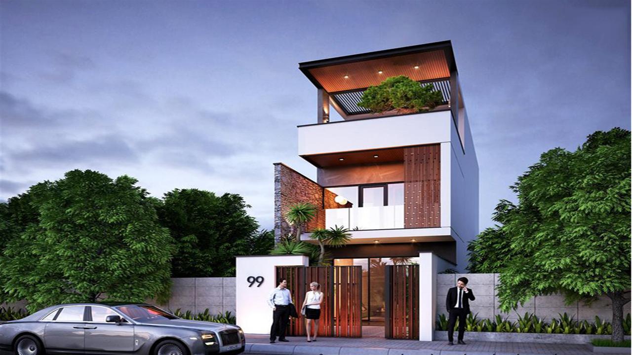 Thiết kế kiến trúc nhà phố đẹp khó hay dễ