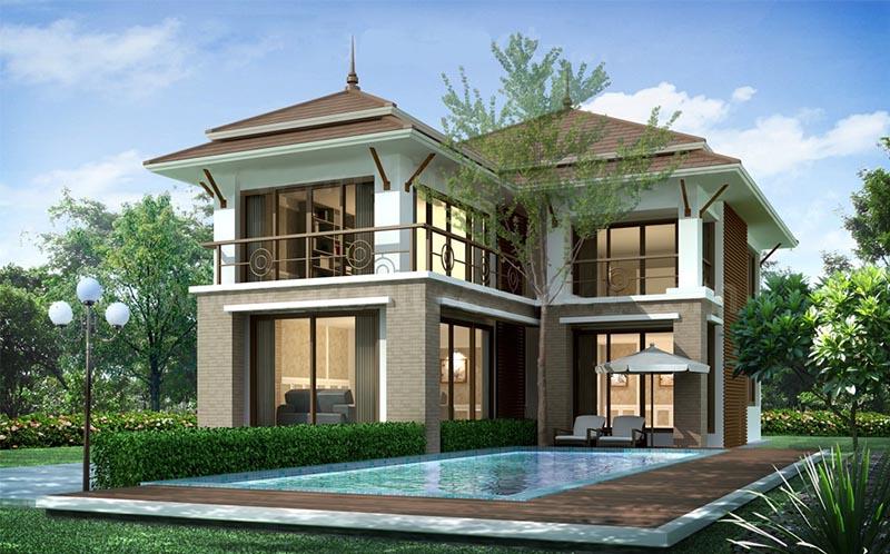 Thiết kế mẫu nhà có hồ bơi