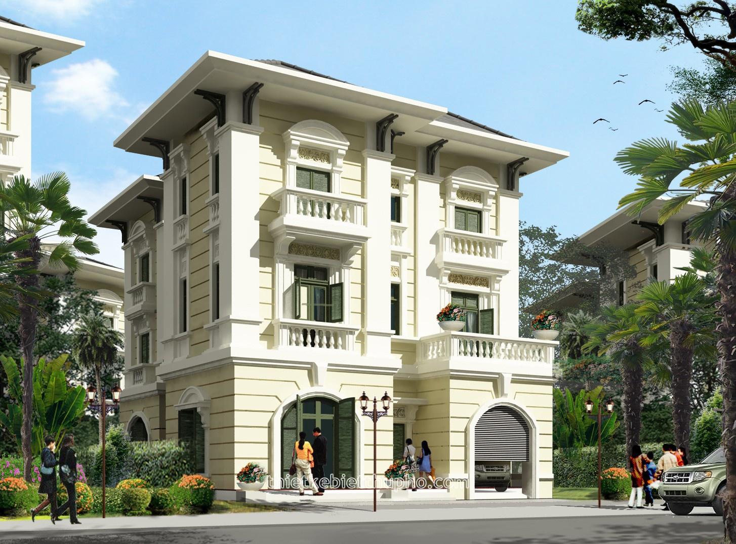 Nhà phố cổ điển