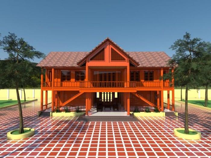 Mẫu nhà sàn gỗ đẹp