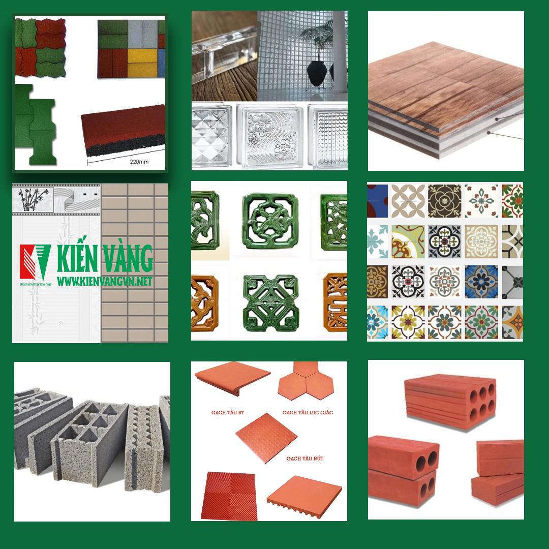 Các loại gạch trong xây dựng