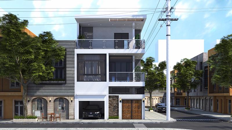 Nhà phố 2 tầng hiện đại