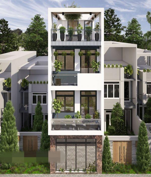 nhà 4 tầng hiện đại