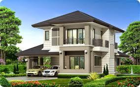 Mẫu nhà thái 2 tầng đẹp
