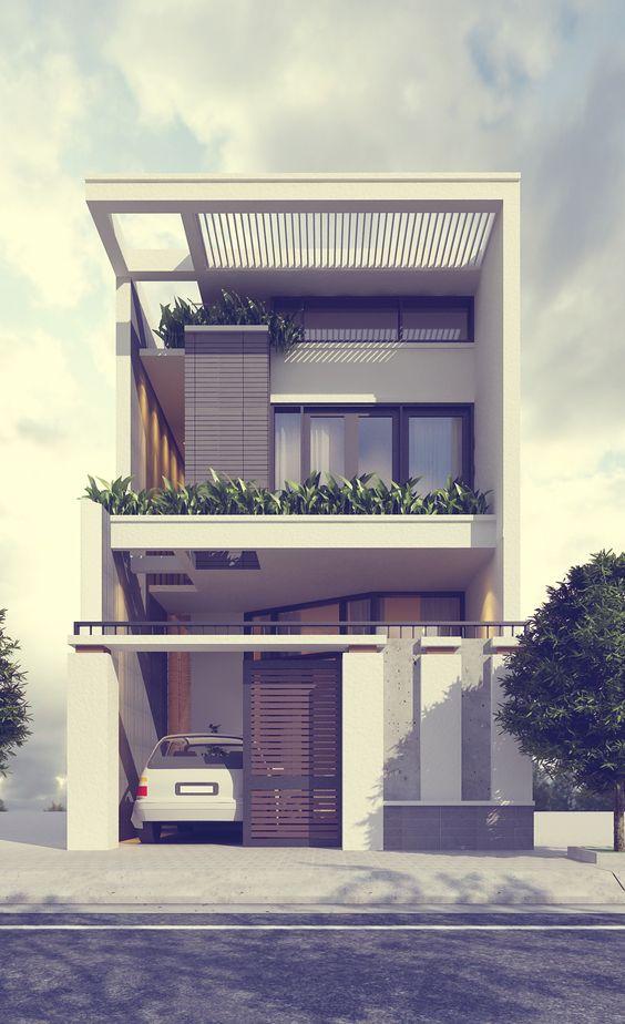 Những ngôi nhà 2 tầng đẹp