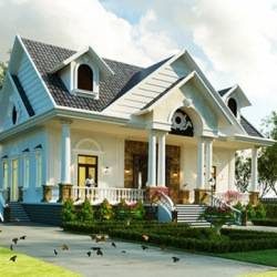 Những kiểu nhà mái thái đẹp